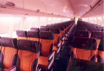 Kabine einer 737-700 der Southwest Airlines/Courtesy: Southwest Airlines