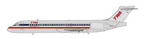 TWA Airlines setzten für kurze Zeit bis Mitte 2002 die Boeing 717 ein/Courtesy: MD-80.com