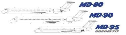 MD-80, MD-90, Boeing 717 - www MD-80 com - Onlinedienst für