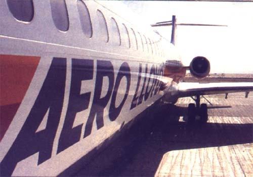 Nahansicht einer MD-87/Courtesy: Aero Lloyd