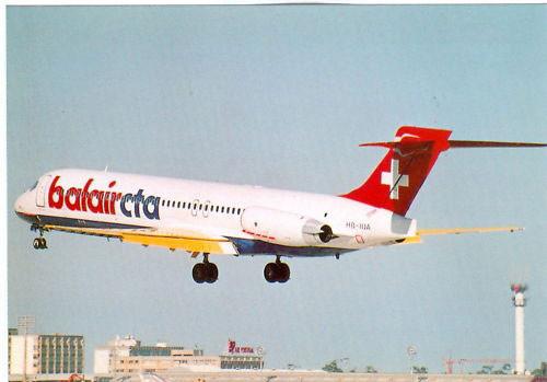 Postkarte mit einer MD-87 der balaircta