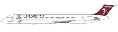Die einzige MD-81 der Harelquin Air/Courtesy: md80design