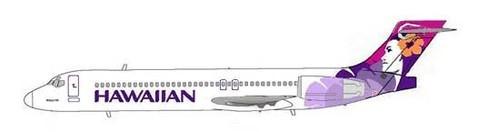 Die Boeing 717 ist das Arbeitspferd der Hawaiian Airlines/Courtesy: MD-80.com