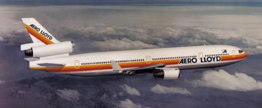 Aero Lloyd MD-11-Modell/Courtesy: McDonnell Douglas