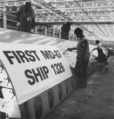 Die erste Serien-MD-87/Courtesy: McDonnell Douglas