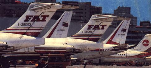 Links das Leitwerk der B-28003/Postkarte