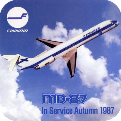 Finnair MD-87-Sticker: Courtesy: Finnair