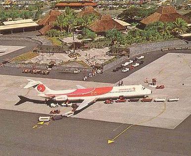 Eine DC-9-51 zwischen zwei Flügen/Postkarte