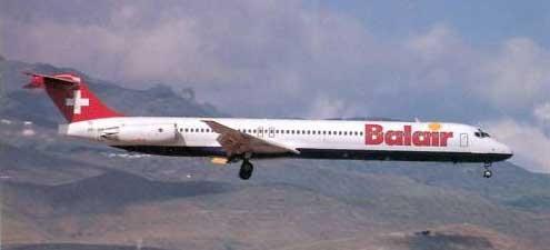 Balair MD-83/Postkarte