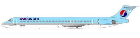 Das attraktive Farbschema der Korean Air stand den MD-80 hervorragend!/Courtesy: md80design