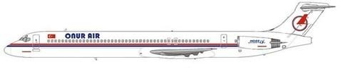 MD-88 der Onur Air im klassischen Farbkleid/Courtesy: MD-80.com