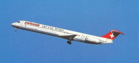 Abflug zu eine weiteren Shuttle-Dienst/Courtesy: Swissair