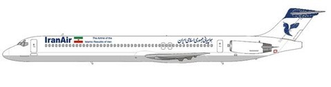 MD-82 im Farbkleid der Iran Air/Courtesy and Copyright: md80design