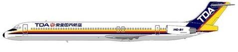 MD-81 in der späteren (auch von JAS weiter verwendeten) Bemalung/Courtesy: MD-80.net