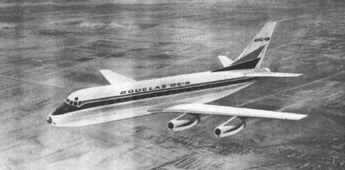 DC-9-Konzept mit vier Triebwerken/Courtesy: Douglas Aircraft