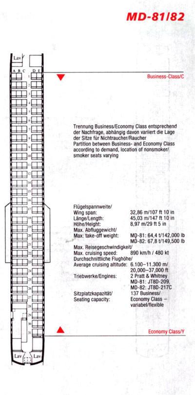 Kabinenplan für 137 Fluggäste/Courtesy: Austrian Airlines