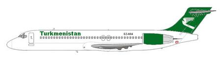 Die Boeing 717 im aktuellen Farbschema der Turkmenistan Airlines/Courtesy: md80design