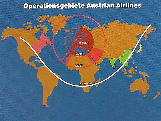 Mit den Flugzeugtypen konnten Austrian ihre Operationsgebiete erweitern/Courtesy: Austrian Airlines