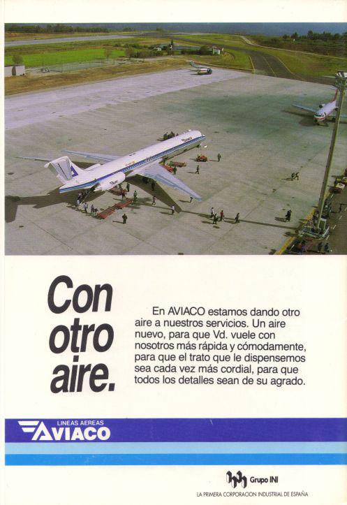 Die MD-88 als modernes Verkehrsmittel für die Anbindung von Provinzflughäfen an Drehkreuze/Courtesy: Aviaco