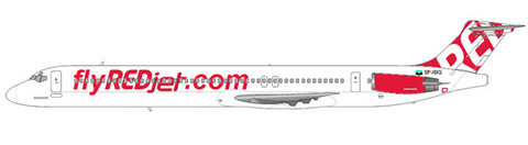MD-82 der REDjet/Courtesy: md80design