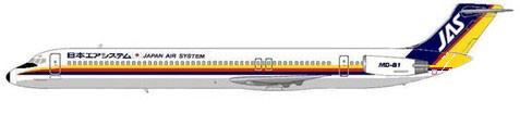26 MD-81 gehörten zur Flotte von Japan Air System/Courtesy: MD-80.com