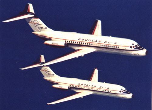 Die ersten beiden DC-9/Courtesy: McDonnell Douglas