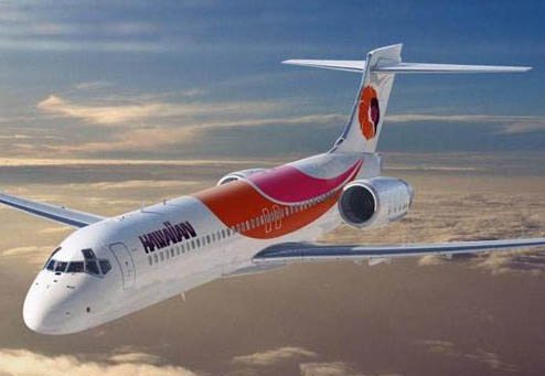 Boeing 717 im damals noch gültigem Farbkleid der Hawaiian Air/Courtesy: Boeing