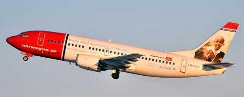 Anfang 2012 gehören (noch) 14 Boeing 737-300 zur Norwegian-Flotte/Courtesy: Norwegian