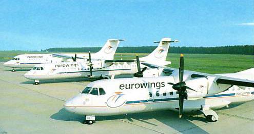 Portkarte mit jeweils einer ATR42/72 und BAe 146-200
