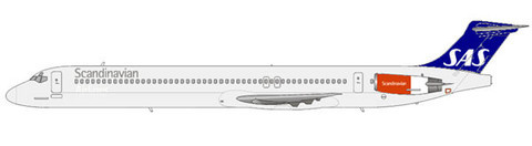 Scandinavian Airlines MD-82/Courtesy: md80design