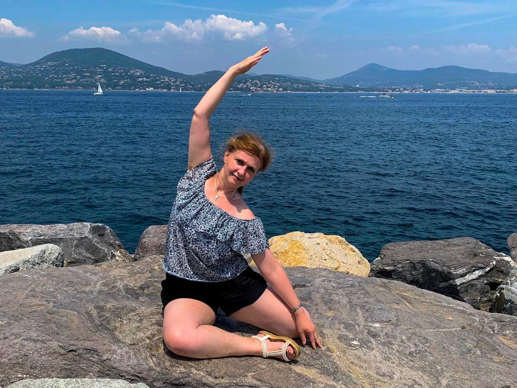 Mermaid am Strand von Sainte Tropez 2019
