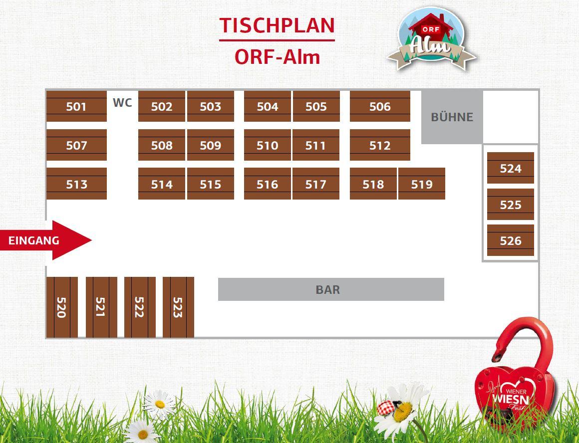 Tischplan ORF ALM