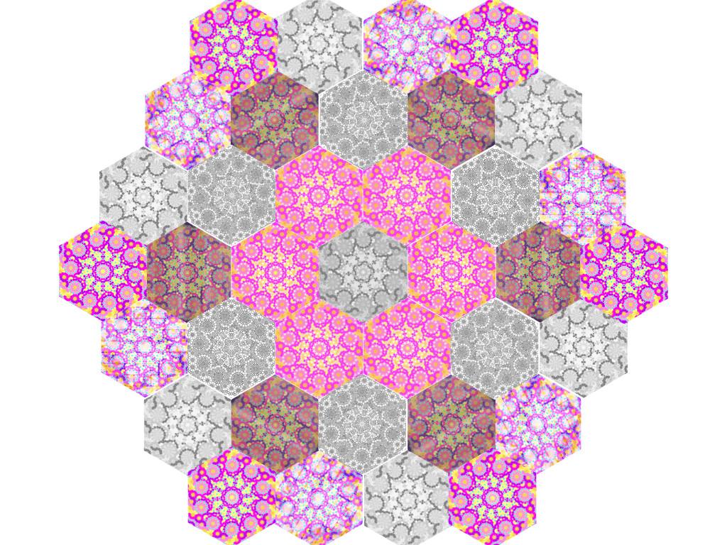 Rosetten aus Hexagon