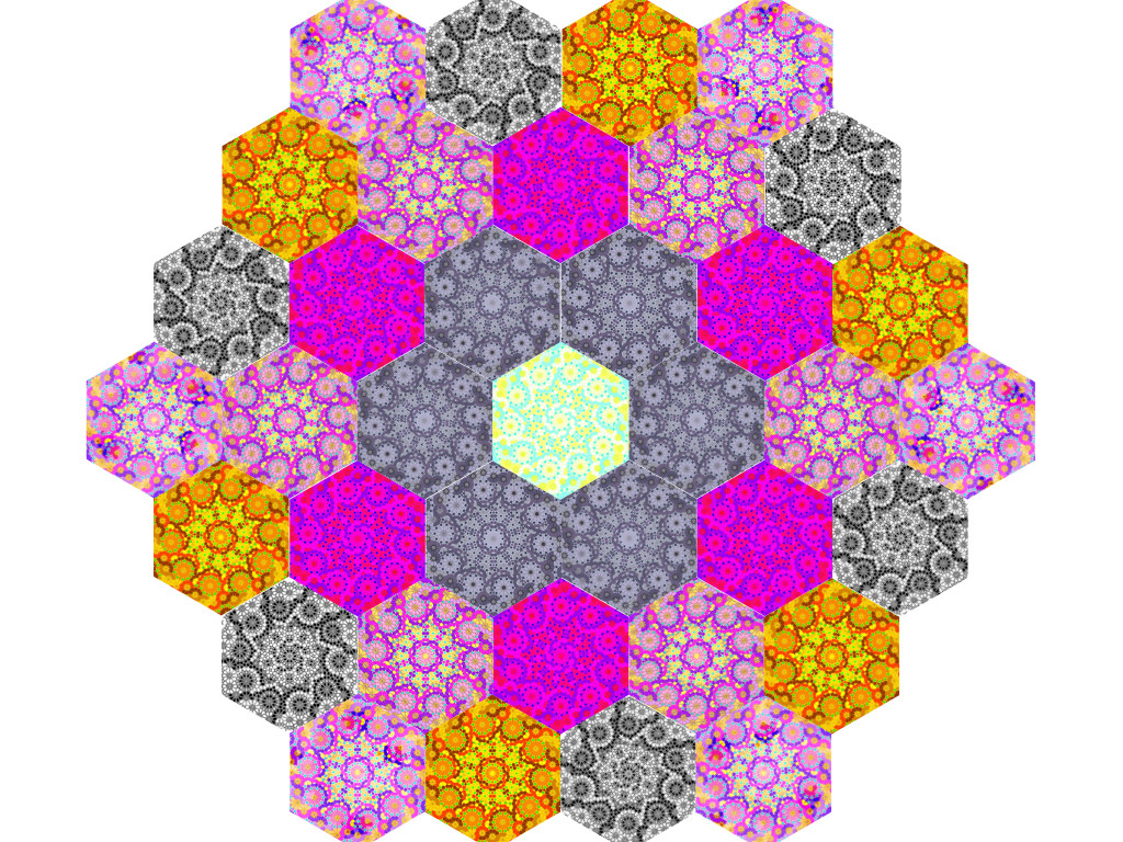 Rosetten aus Hexagon