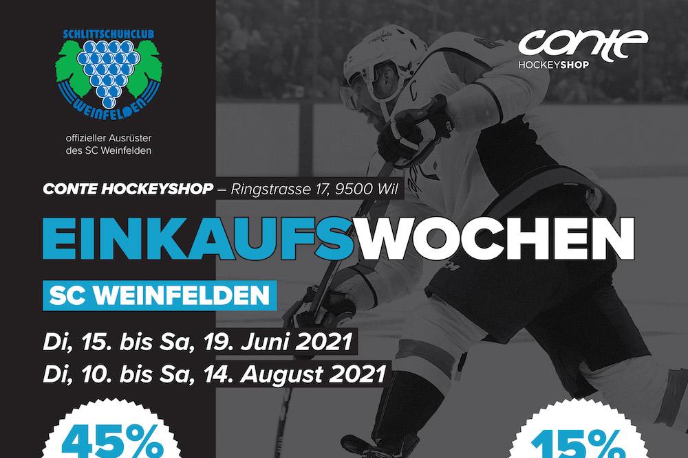 Einkaufswochen bei Conte Hockey für SCW-Mitglieder