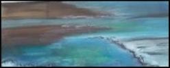 Entre Ciel et Terre 6: Mer morte. Pastel sur papier Canson mi- teinte 50% coton. 33 x 14               80€