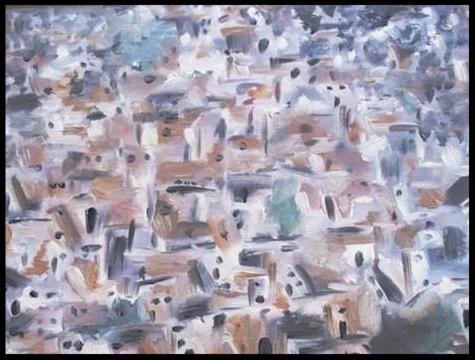 Entre ciel et Terre 2, Matera de jour. Huile sur papier texture toile de lin,24 x 33    N'est plus disponible.