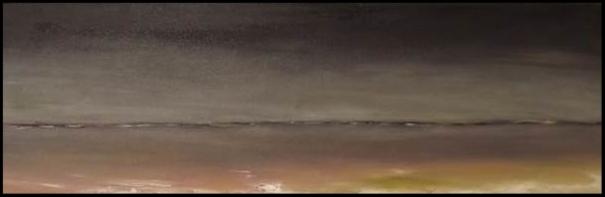 Entre Ciel et Terre 6:le Nord. Huile sur toile 88 x 30                                            150€