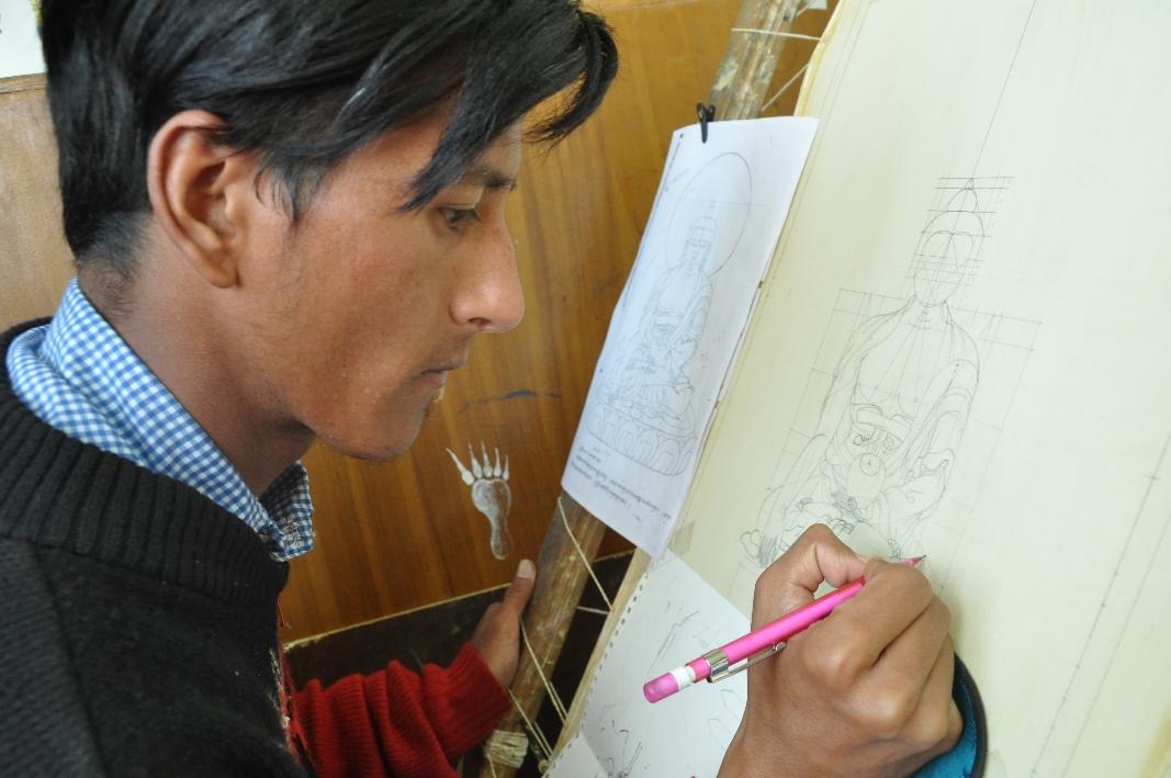 VTC Patlikuhl, Thangka Painting Section