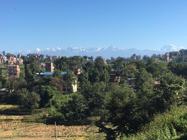 View from Katmandu University, Central Himalaya range