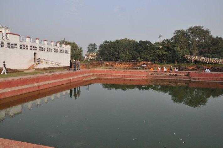 Mayadevi Temple with holy lake