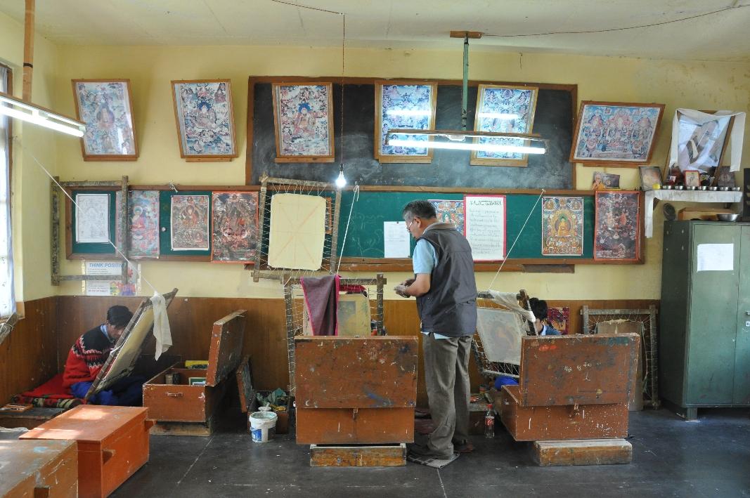 Vocational Training Center (VTC) Patlikuhl, Thangka Painting Section