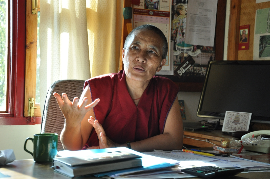 In the Office of Tibetan Nun's Project at Dolmaling Nunnery