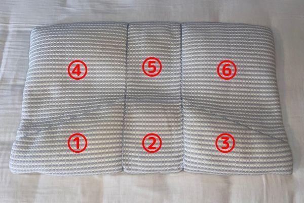 6つの部屋から成り立つオーダー枕