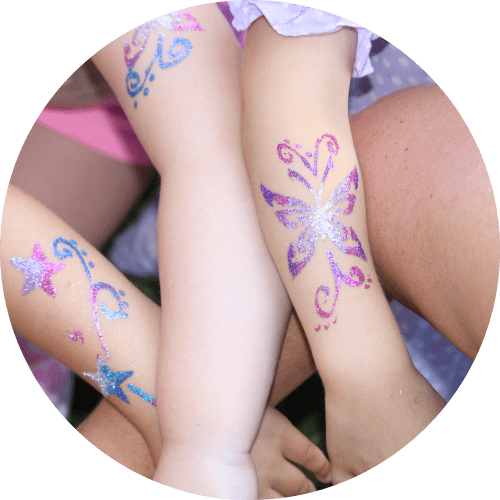 Animation mit Glitzertattoos