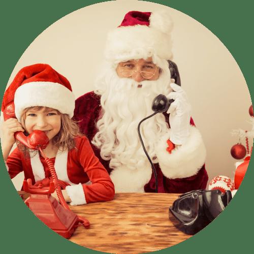 Fotobox mit Weihnachtsmann