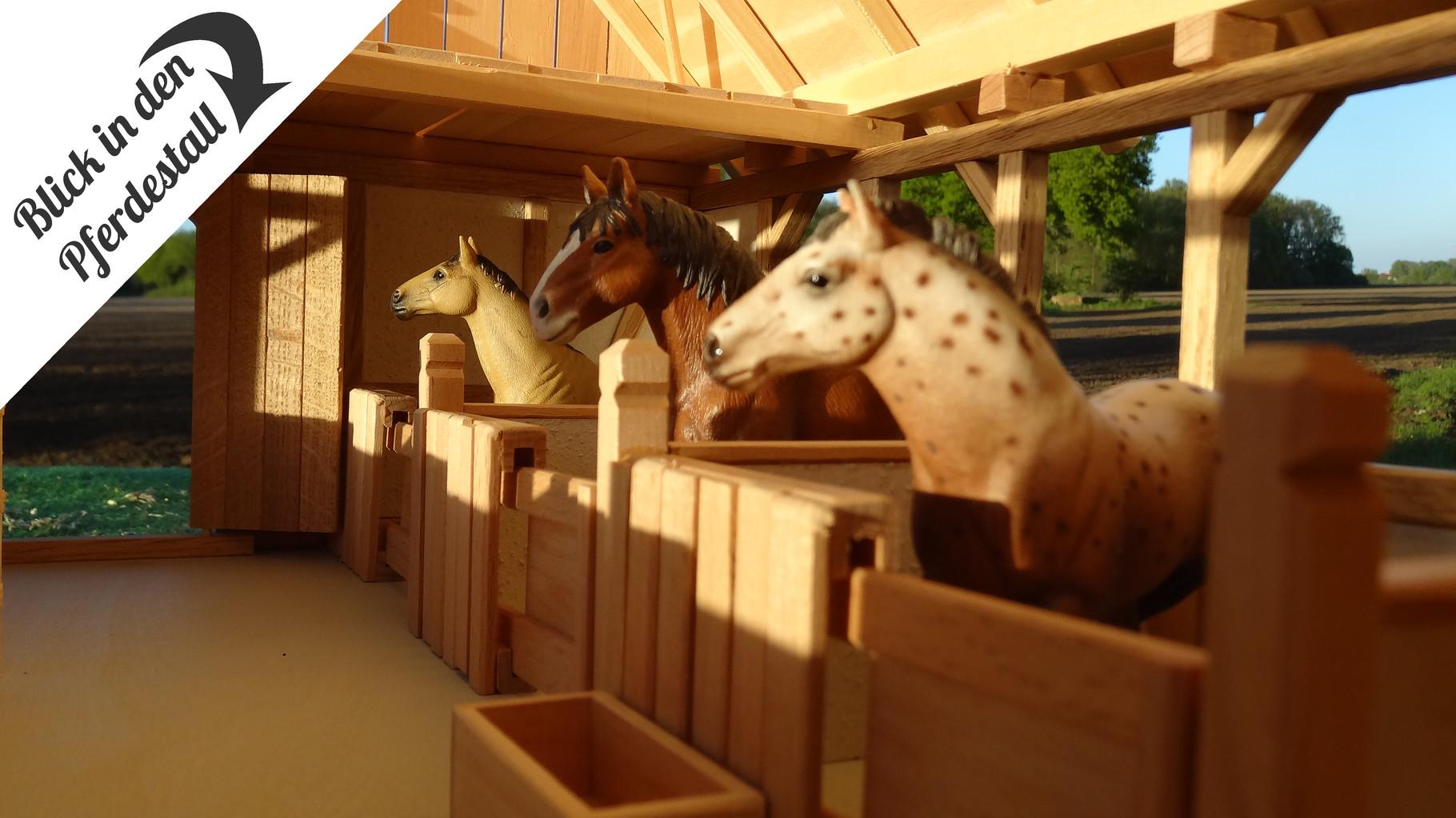 neu 2016 der pferdestall f r schleich pferde st lle kutschen tack schneidebretter. Black Bedroom Furniture Sets. Home Design Ideas