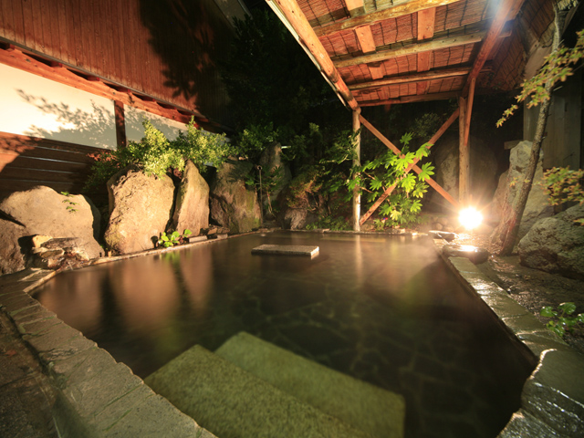 夜風と露天風呂