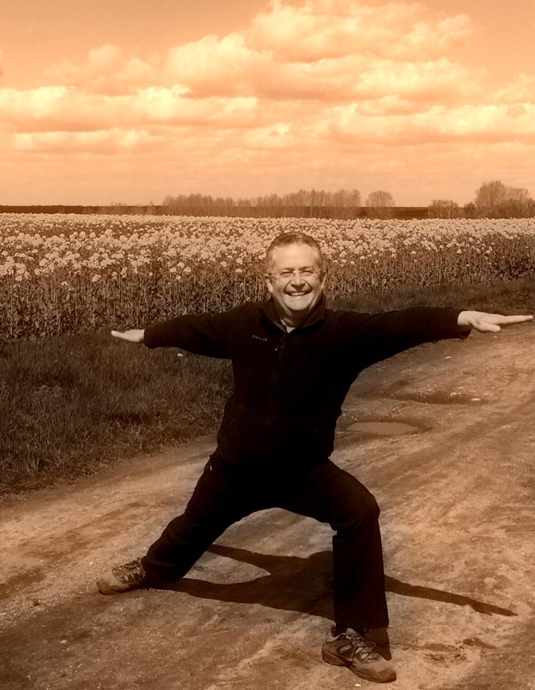 "Yoga-Asana: ""Der Krieger"""