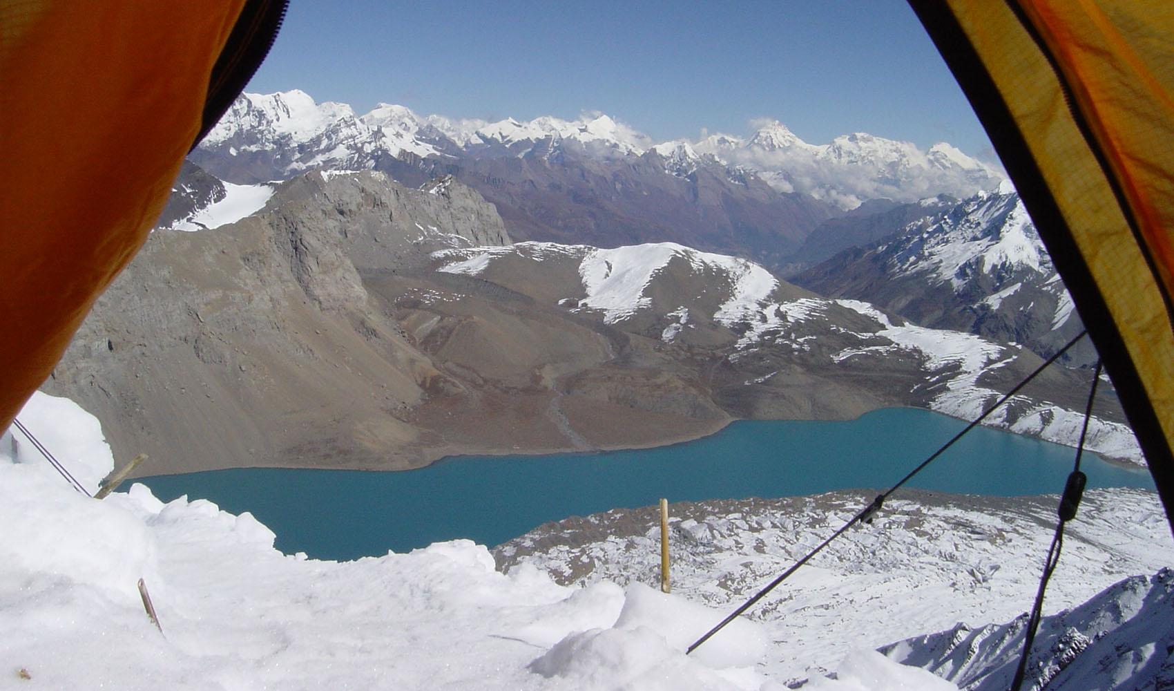 Le lac vu du C1